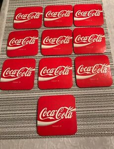 Vintage Coca Cola Coasters Set of 10 Loose Cork Backed