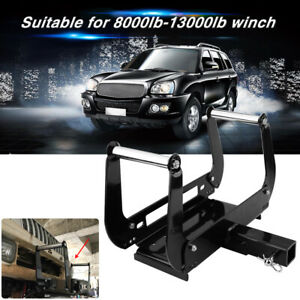 Foldable Winch Mounting Bracket Cradle Plate For 4wd Vehicle Truck Trailer Atv