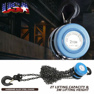 2 Ton Chain Puller Block Fall Chain Hoist Hand Tools Lifting Chain With Hook Usa