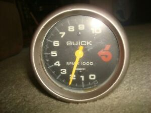 Rare Vintage 1980 S Buick Grand National 10000 Rpm Dash Tachometer Tach 25500151
