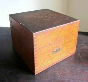 Antique Meter Thalheimer Wood Box Baltimore Maryland Cigar Index Recipe Uses