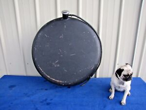 Vintage Spare Tire Shaped Gas Fuel Diesel Jerry Can Metal 28 Diameter