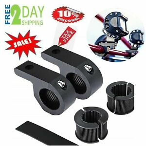 Horizontal Bar Clamp Mounting Bracket Kit Atv Utv Truck Boat Led Light Universal