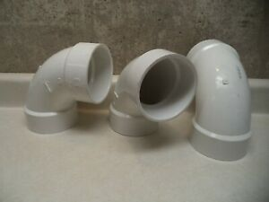 Mueller Industries 4 Pvc 90 Degree Elbow Lot Of 3