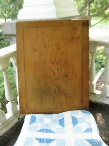 Lg Antique Bread Board Framed On All Sides Original Surface Free Shipping