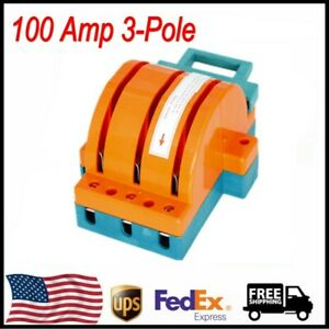 100 Amp Disconnect Knife Switch 100a 3 pole Double Throw Circuit Safety Blade