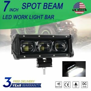 7inch 60w 6d Cree Led Work Light Bar Spot Beam For Jeep Offroad Atv Driving 8