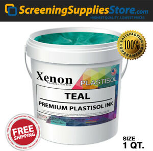 Xenon Teal Plastisol Ink For Screen Printing 1 Quart 32oz