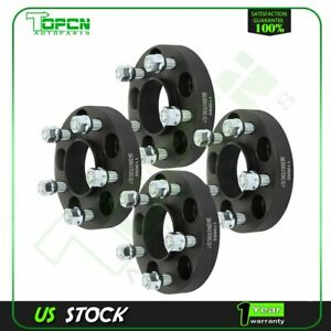 4 Pcs Black Wheel Spacers 5x4 5 1 2 Studs 1 Thick For Ford Mustang Edge Ranger