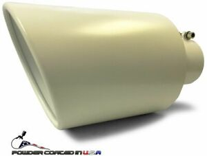 White Bolt On Diesel Exhaust Tip 4 Inlet 8 Outlet 15 Long