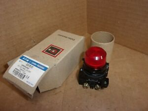 Cutler Hammer Corrosion Resistant Pilot Light Switch E34tb120 Red Cap New