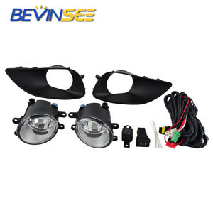 For Toyota Yaris 2007 2011 Clear Lens Fog Light Lamp W Wiring Switch Cover Kit