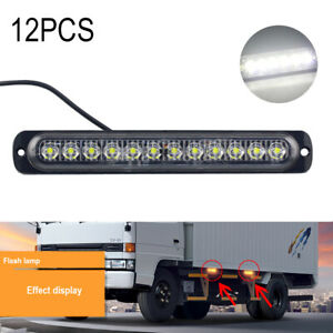 Car Replace 36w White 12 led Strips Side Bar Strobe Flash Light Accessories 12x