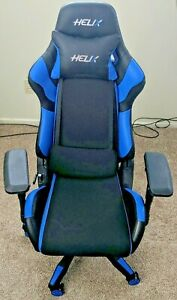 Helix Gaming office Chair Recliner Racing Swivel Task Desk Chair Blue