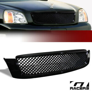 For 2000 2005 Cadillac Deville Black Luxury Sport Mesh Front Bumper Grill Grille