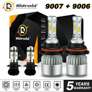 Combo 9007 9006 Led Headlight Fog Bulbs For Dodge Ram 1500 2500 3500 2002 2005