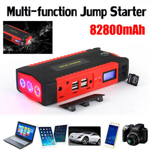 12v 82800mah Car Jump Starter Booster Portable Led Battery Charger Power Bank Us