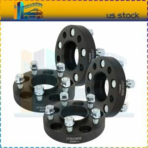 4 Pcs 5x4 5 1 Wheel Spacers 1 2 Studs For Ford Mustang Edge Ranger Cb 70 5mm