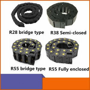R28 r38 r55 Plastic Semi Close closed open Type Cable Drag Chain Wire Carrier 1m