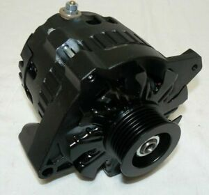 Gm Black 160 Amp Sbc Bbc Alternator Serpentine Belt 1 One Wire Chevy