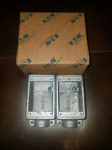 2 Pack Eaton Crouse hinds Fd2 Condulet 3 4 Single Gang Outlet Box