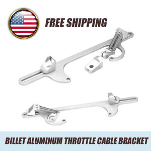 Billet Aluminum Throttle Cable Bracket For Holley 4150 4160 Series Silver