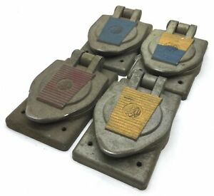 Lot Of 4 Hubbell Lock Unlock Turn Socket Cover Red Blue Yellow Blue yellow