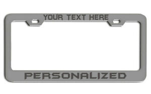 Personalized Custom Laser Engraved License Plate Frame Chrome Metal Personalized