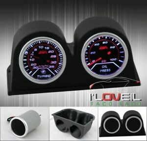 High Quality Performance Turbo Boost Oil Pressure Gauge Pod Holder Combo Set
