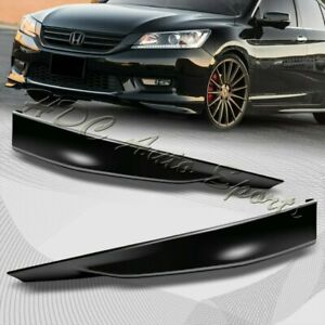 For 2013 2015 Honda Accord 4 dr Hfp style Blk Polyurethane Front Bumper Lip 2pc