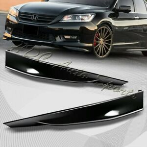 For 2013 2015 Honda Accord 4dr Hfp Style Painted Black Front Bumper Splitter Lip