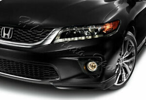 For 13 15 Honda Accord Coupe Hfp Style Painted Black Front Bumper Spoiler Lip