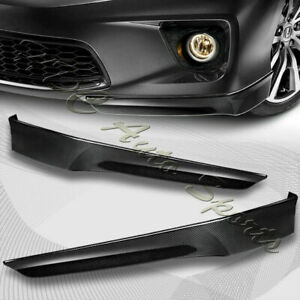 For 2013 2015 Honda Accord 2 Dr Hfp Style Carbon Style Front Bumper Spoiler Lip