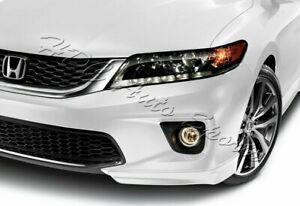 For 13 15 Honda Accord Coupe Hfp Style Painted White Front Bumper Spoiler Lip
