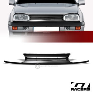 For 1993 1998 Vw Golf 1995 Cabrio Mk3 Blk Horizontal Front Bumper Grill Grille