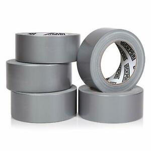 Heavy Duty Silver Duct Tape 5 Roll Multi Pack Industrial Lot 30 Yards X 2