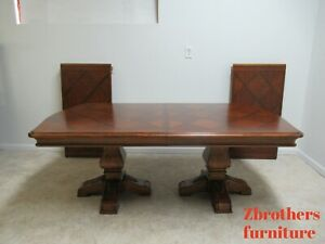 Ethan Allen Tuscany French Louis Xv Pedestal Dining Room Table Conference Banque