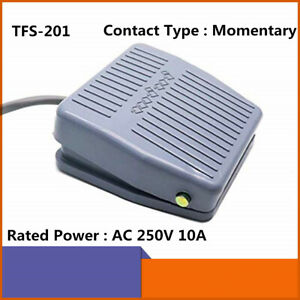Momentary Foot Operated Pedal Controller Power Supply Switch 250v 10a Tfs 201