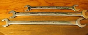 Snap on Tools 3 Piece Metric Low Torque Slimline Open End Wrenches