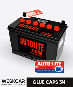 Autolite Battery Group 27 Sv 27f Red 1965 70 Caps Kit