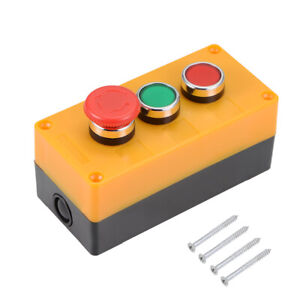 Push Button Switch Box Momentary Red Green Switches And Emergency Stop