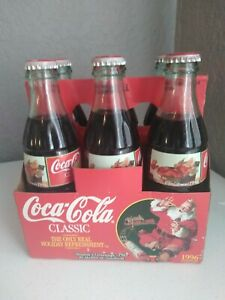 23 year old Coca Cola Bottles Christmas 1996 Classic  Unopened