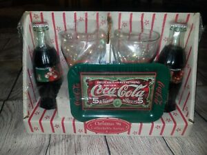 Vintage Coca Cola Gift Set Christmas 1996 Collectible Series Santa Bottle Sealed