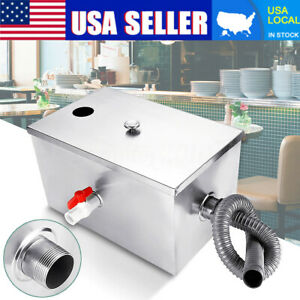 8lb Commercial 5gpm Grease Trap Stainless Steel Interceptor Filter Kit Us Stock