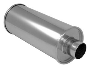 2 5 Center In Out Vibrant Streetpower Round Muffler Stainless Steel 1118