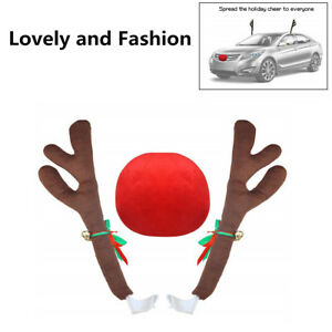 Fashion Car Christmas Decorations Reindeer Antler Costume Kit With Jingle Bell