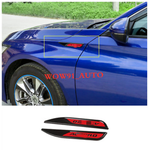 New Abs Badge Leaf Board Side Label Fit For 2018 2019 Honda Accord 10th 2pcs