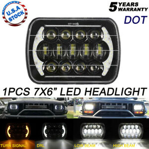7x6 105w H6054 Led Headlight Drl For 86 95 Jeep Wrangler Yj 84 01 Cherokee Xj