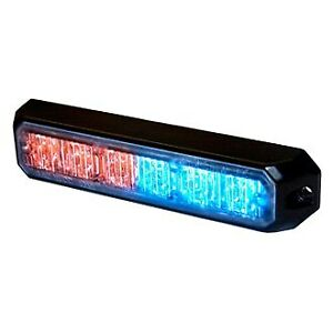 Hella H22890061 5 6 led Ms6 Bolt on Mount Red blue Led Strobe Light