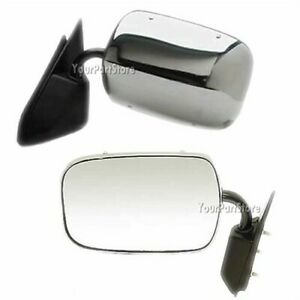 88 98 Chevy Gmc Pickup Pu Truck Chrome Manual Door Mirror Driver Side Lh Left